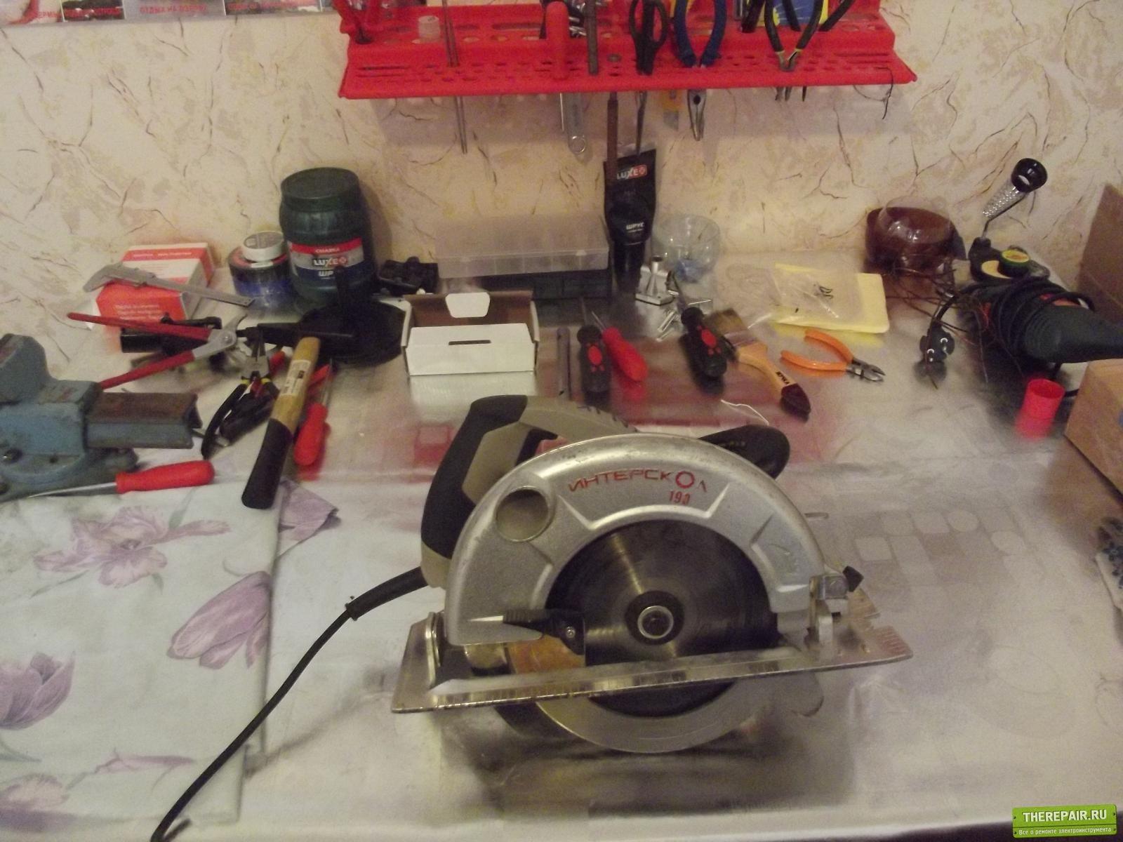 схема защиты дисковой пилы
