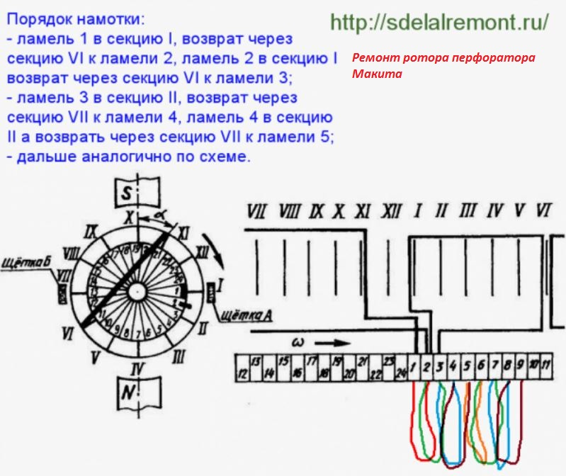 Как перемотать коллекторный двигатель своими руками 60